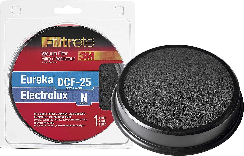 Black 67825 N Allergen Vacuum Filter 1 3M Eureka//Electrolux DCF-25
