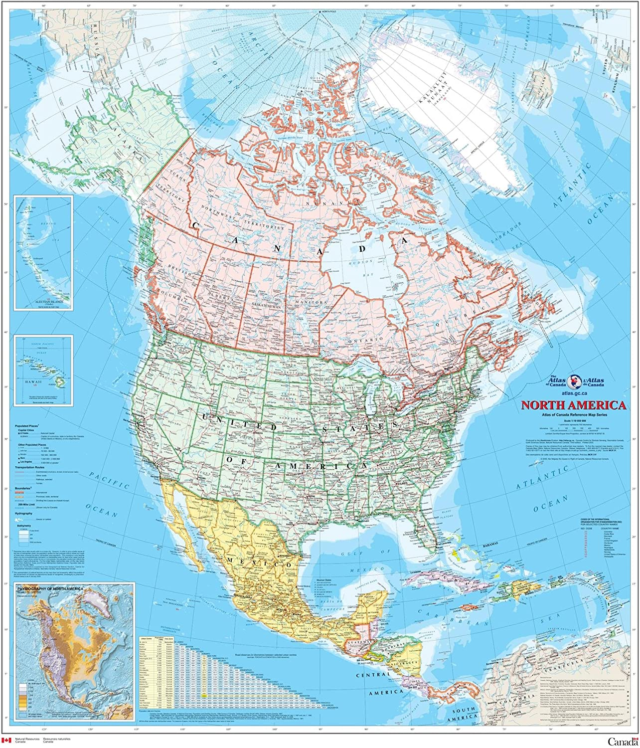 Map Of America And Canada Amazon.: North America Wall Map   Atlas of Canada   34