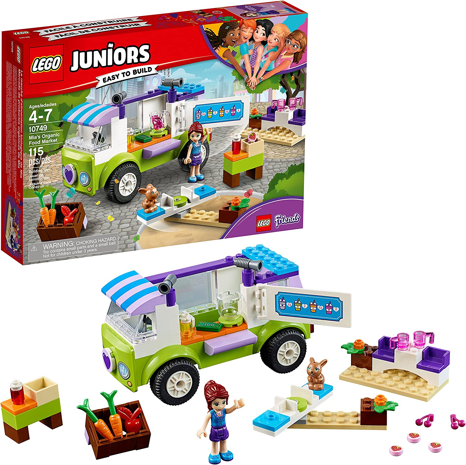 LEGO Juniors/4+ Mia's Organic Food Market 10749 Building Kit (115 Piece)