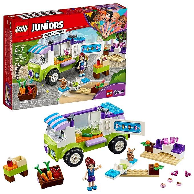 Amazoncom Lego Juniors4 Mias Organic Food Market 10749 Building