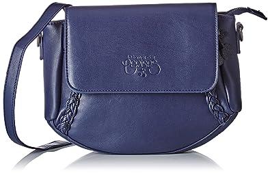 b30eaa7095 Le Temps des Cerises femme Phoebe 4 Besace Bleu (Bleu Nuit): Amazon ...