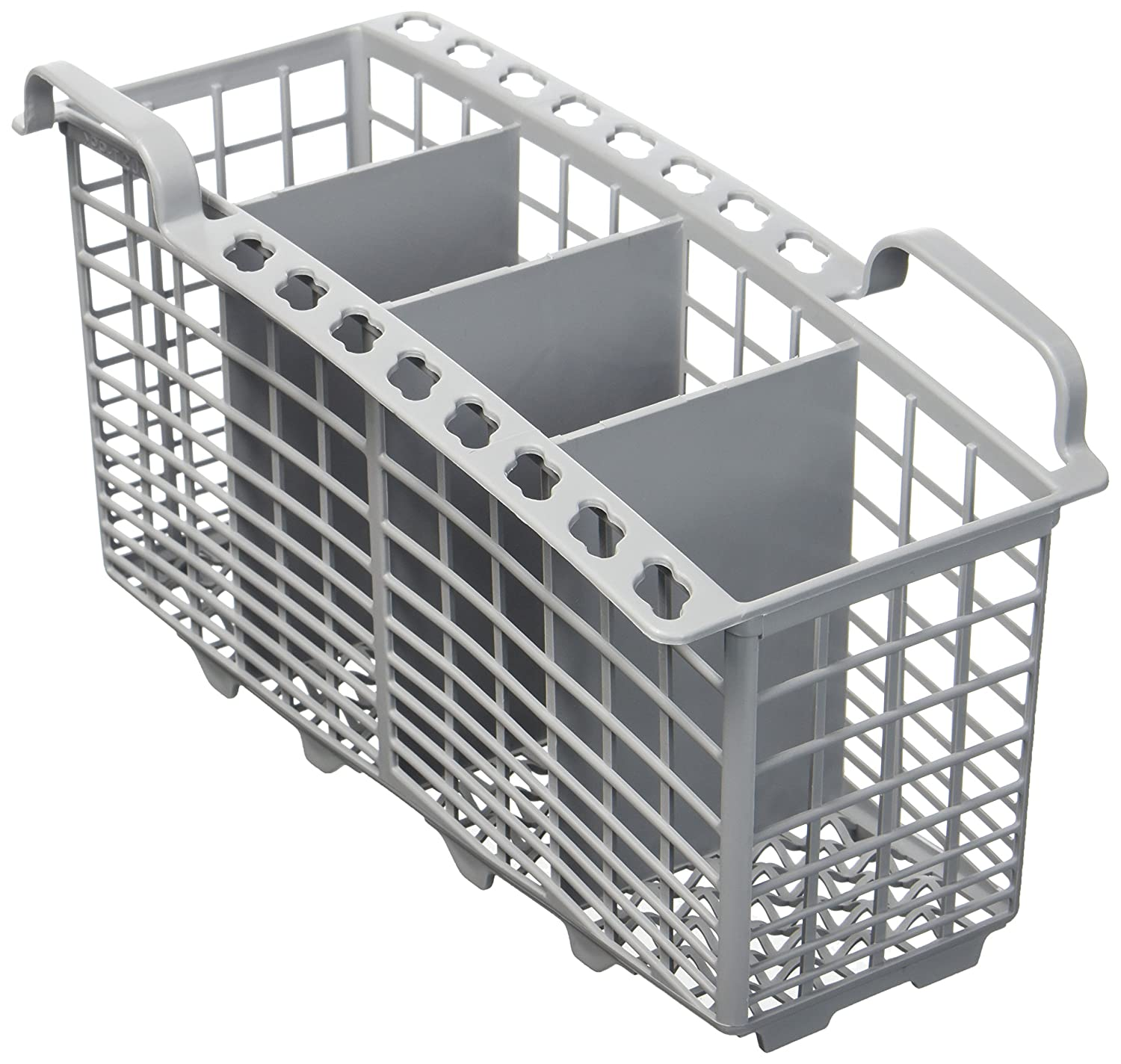 4-Compartment Cutlery Basket Fits Indesit Dishwasher, Grey Europart 68-UN-01