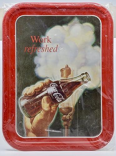 Amazon com: 1993 - TCC Inc - Coca-Cola Tray - Work Refreshed - 13 75