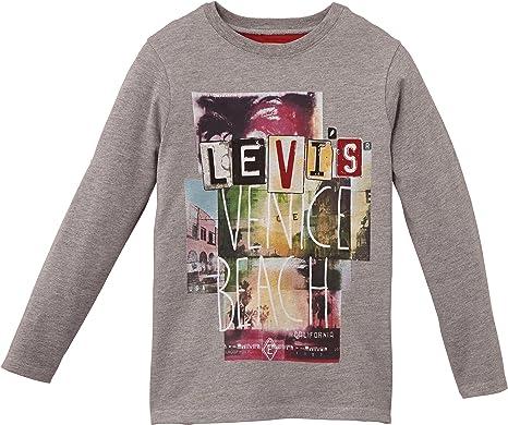 Levi's Kids LS Tee Luigi T Shirt, Gris (Silver), FR (Taille