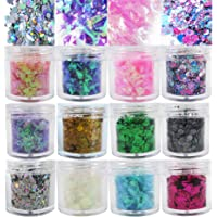 Colored Chunky Glitter Flakes Resin Accessories Holographic Hexagon Iridescent Sparkles Glitter Sequins Crafts Paints…