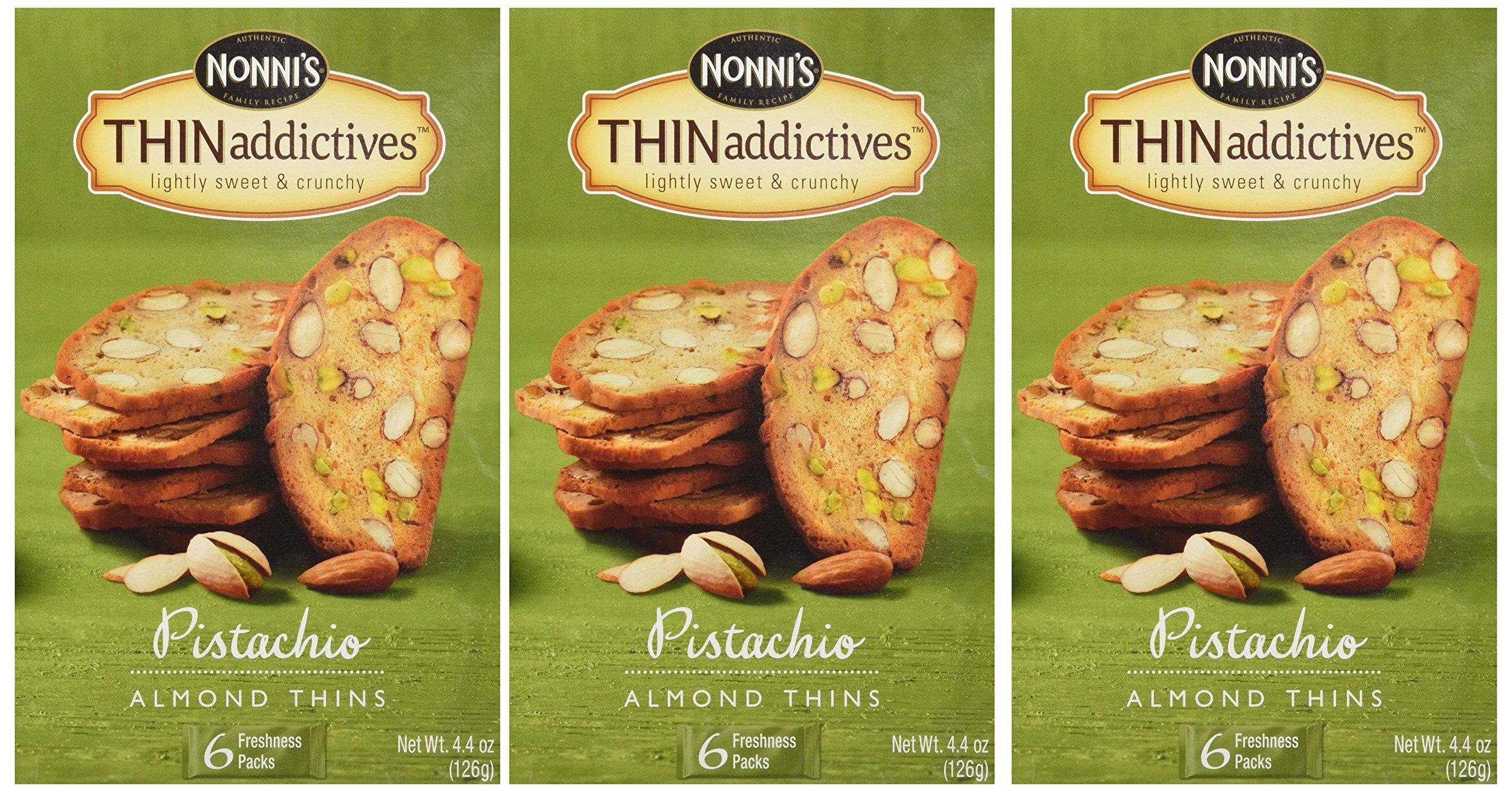 Nonni's Thin Addictives Pistachio Almond Thins 4.5 oz (3 Pack)