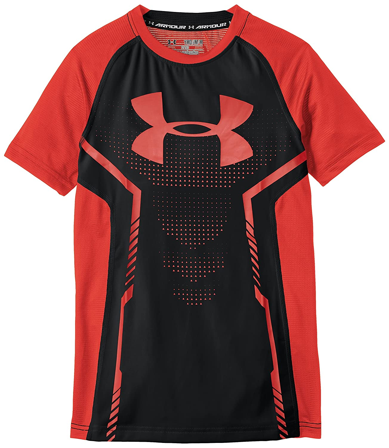 Under Armour Fitness T-Shirt Armour Up Short Sleeve - Camiseta de niños, color negro, talla s 1253820