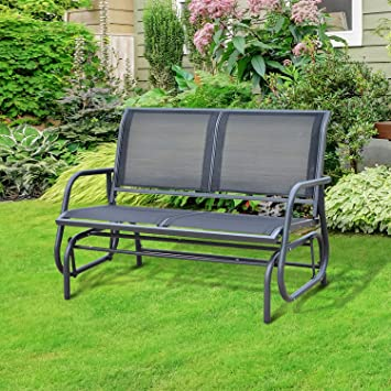 Outsunny Banc  Bascule De Jardin Design Contemporain Grand Confort