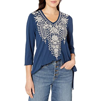 JWLA By Johnny Was Women's Tonal Embroidered 3/4 Sleeve T-Shirt at Women's Clothing store