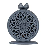 NIKKY HOME Shabby Chic Pewter Quartz Table Clock