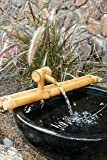 Bamboo Accents Zen Garden Water Fountain Spout, Complete Kit includes Submersible Pump for Easy Install, Handmade Indoor/Outdoor Natural Split-Free Bamboo (Classic Nozzle - 18 Inches)