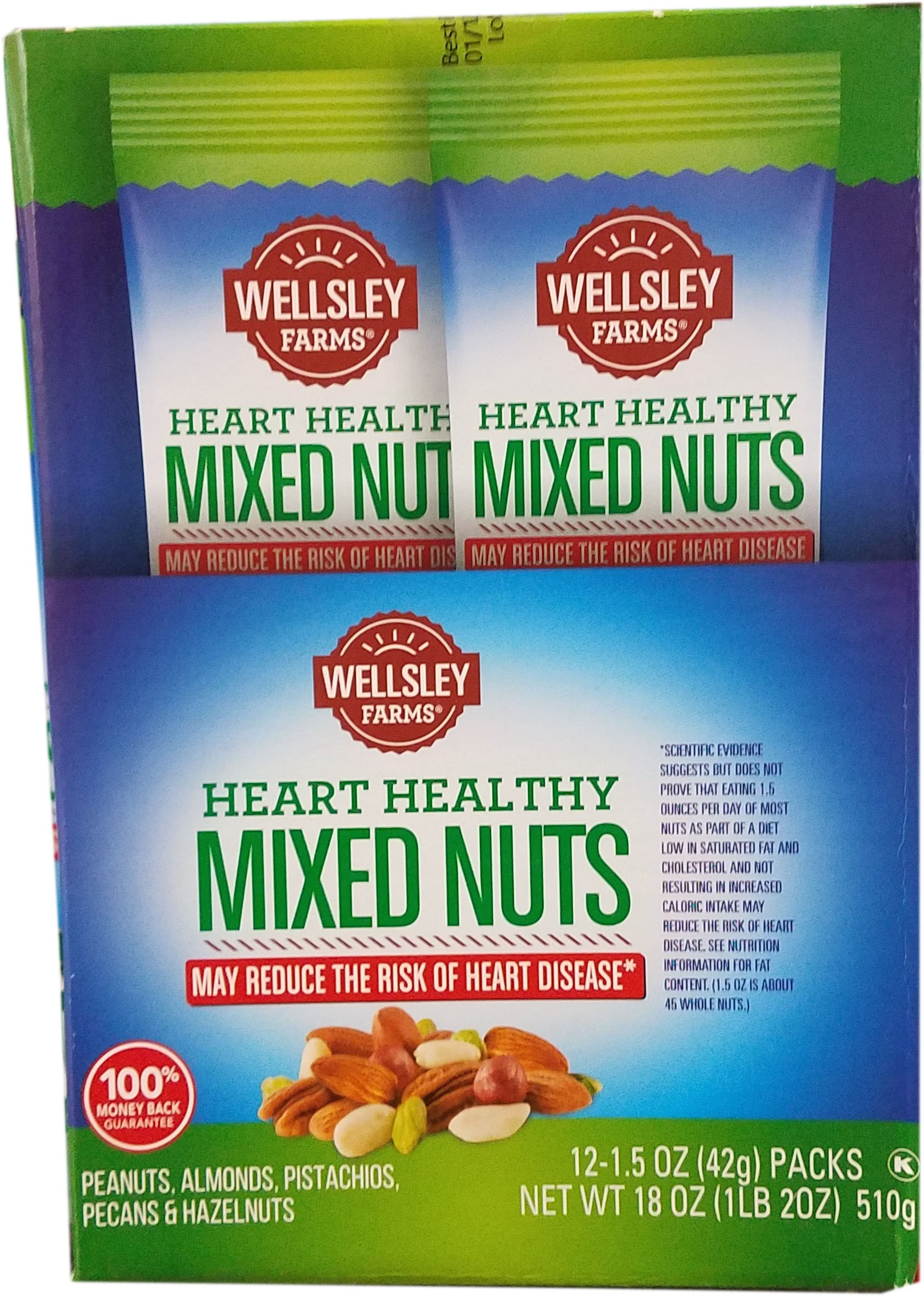 WELLSLEY FARMS HEART HEALTHY MIXED NUTS 12 -1.5 OZ PACK by Wellsley Farms
