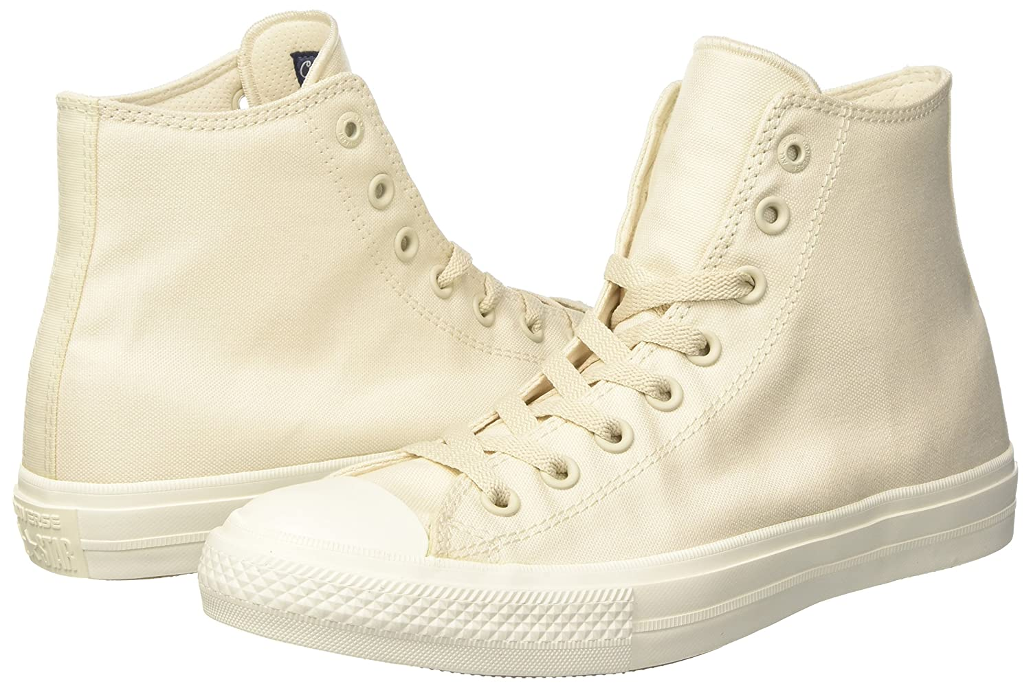 Converse Chuck Taylor All Star II High B000IBE9NU 14 B(M) US Women / 12 D(M) US Men|Parchment/Navy/White