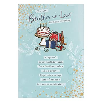 Amazon Hallmark Birthday Card For Brother In Law Great