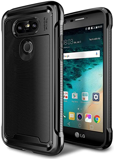 save off 557c6 36a6b LG G5 Case, E LV LG G5 - Hybrid [Scratch/Dust Proof] Armor Defender Slim  Shock-Absorption Bumper Case for LG G5 - [BLACK/BLACK]