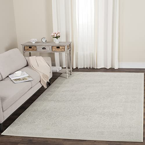 Safavieh Carnegie Collection CNG691C Vintage Cream and Light Grey Distressed Area Rug 6 7 x 9 2