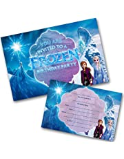 Frozen 2 Party Invitations Pack and envelopes Write on