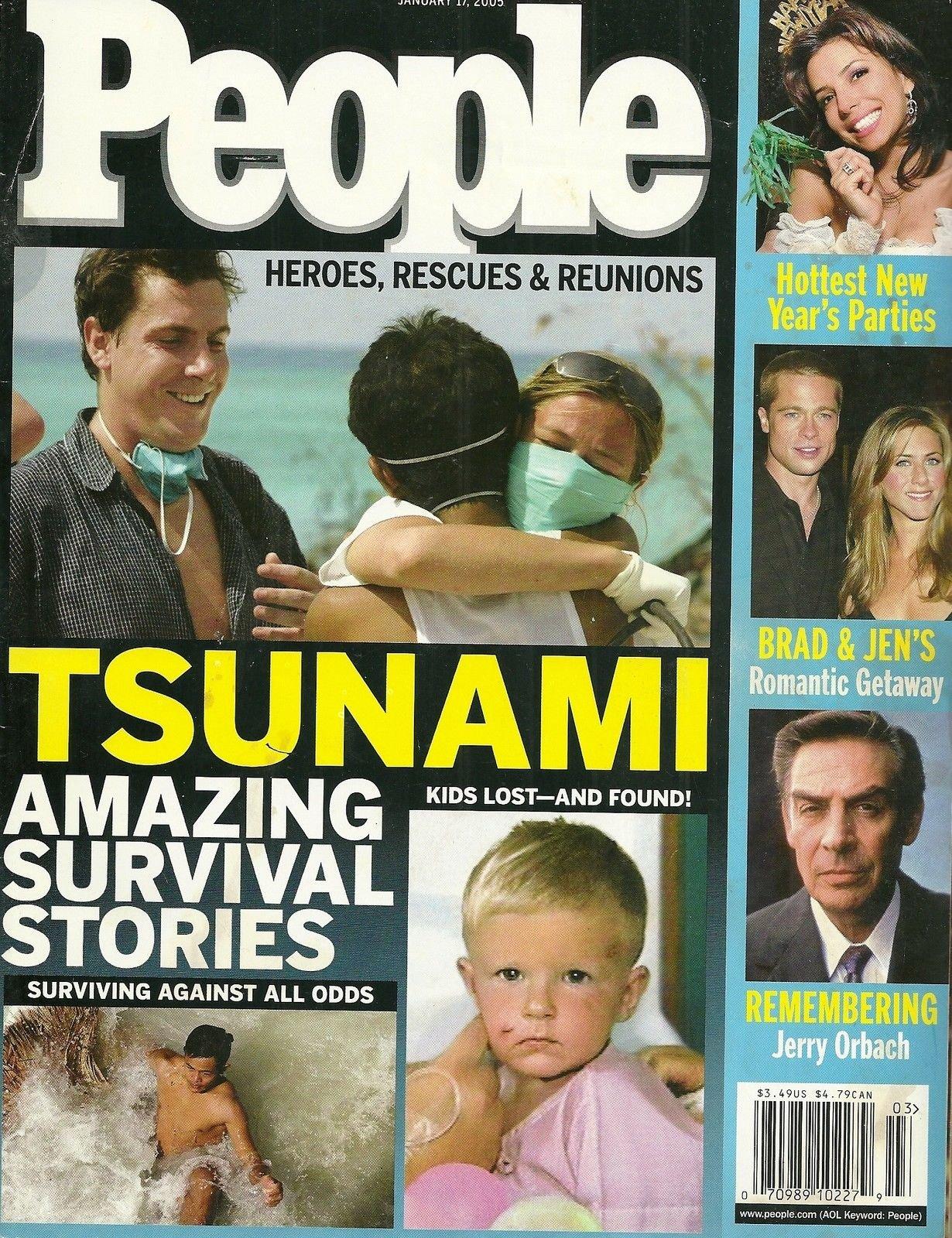 Asian Tsunami, Jerry Orbach, Brad Pitt and Jennifer Aniston