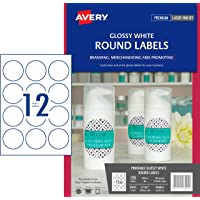 Avery Glossy Round Labels, 60 mm Diameter, 120 Labels (980001 / L7105)