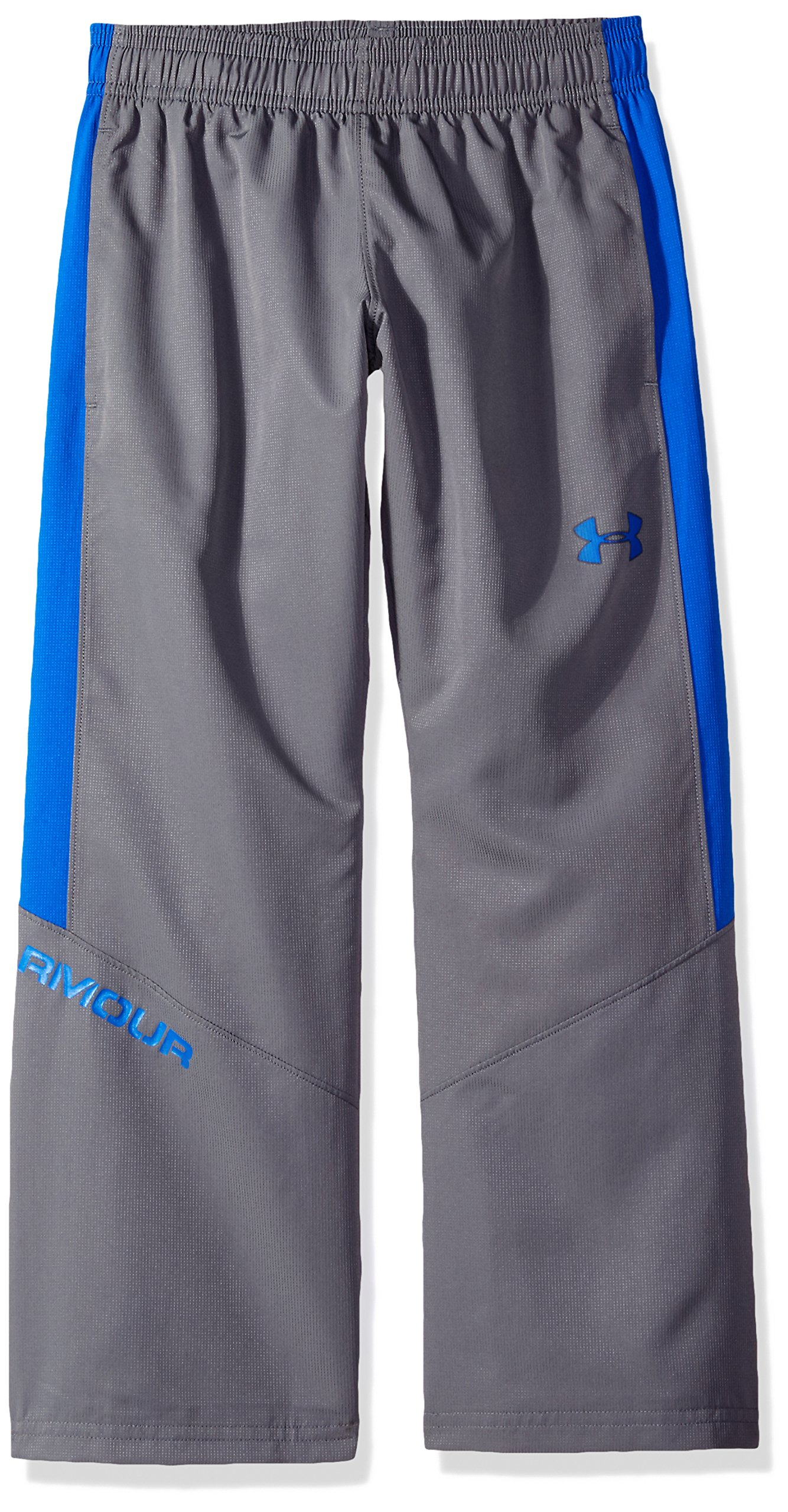Under Armour Boys' Main Enforcer Woven Pants, Graphite/Ultra Blue, Youth Large