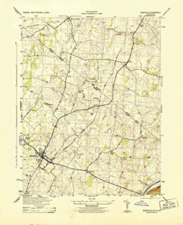 Amazon.com: Virginia Maps - 1944 Berryville, VA USGS ... on bandy va map, kents store va map, weyers cave va map, dyke va map, charles town va map, new york va map, steeles tavern va map, spotsylvania courthouse va map, paris va on map, stanleytown va map, the plains va map, rappahannock river va map, baileys crossroads va map, stanley va map, va state highway map, cana va map, clarke county va map, jefferson va map, claremont va map, birchleaf va map,