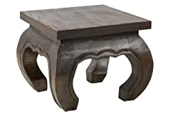 Handelsturm Opium Coffee Table 30x35cm, from solid wood (Albizia lebbeck)