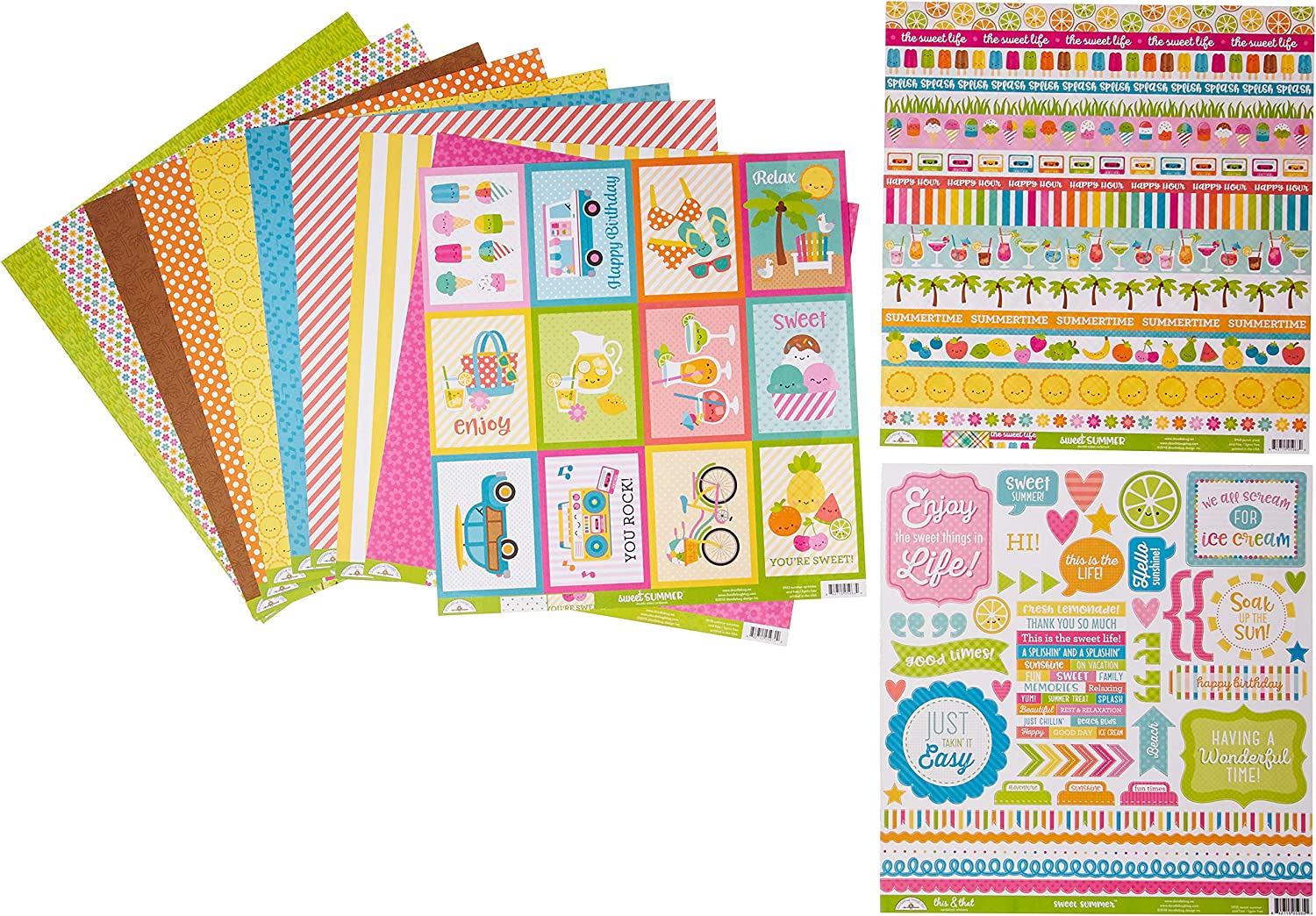 Doodlebug Simply Spring Double-Sided Cardstock 12X12-Sweet Sunshine