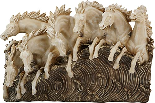 Design Toscano NG34016 Neptune's Horses of the Sea Sculptural W,two tone stone