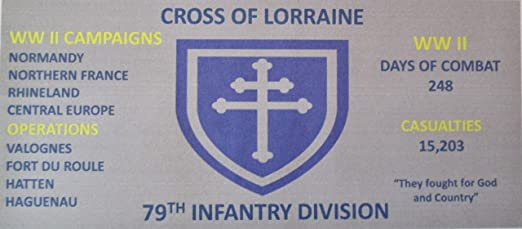 79TH INFANTRY WW II  DIVISION 3/'X5/' 2PL POLYESTER 1-SIDED INDOOR 4 GROMMET FLAG