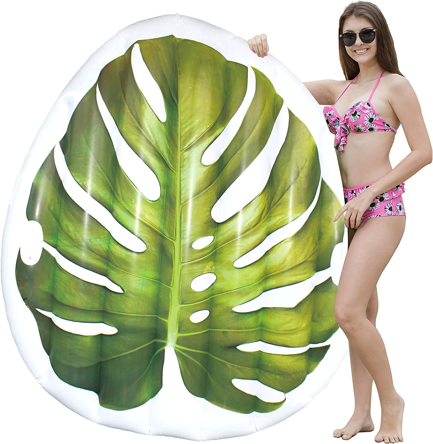 Geefuun Tropical Toucan Inflatable Pool Float Ride On Beach Swimming Ring Hawaiian Luau Themed Water Toys Party Supplies for Adults//& Kids