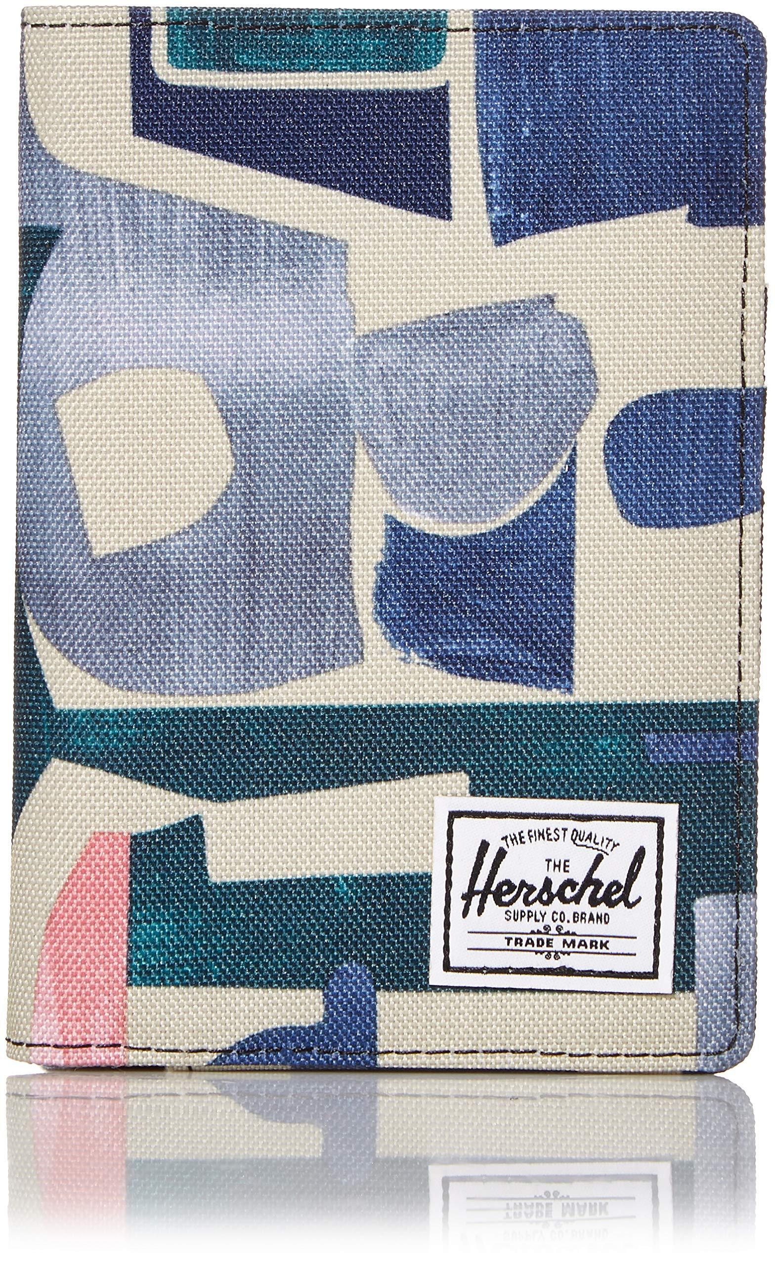 Herschel Men's Raynor Passport Holder RFID, abstract block, One Size by Herschel