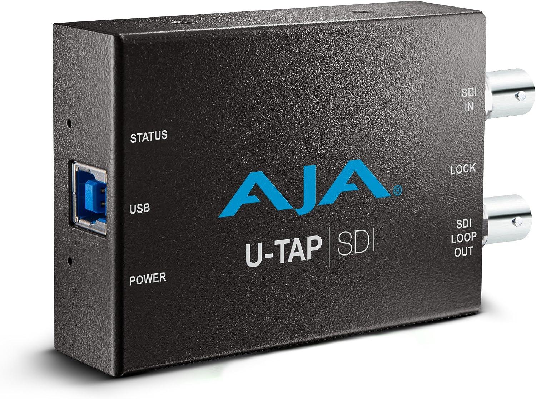 AJA U-Tap SDI USB 3.0 Dispositivo para capturar Video - Capturadora de vídeo (240p,360p,480p,525i,540p,576p,625i,720p,1080i,1080p, 48 kHz, 24 Kbit/s, ...