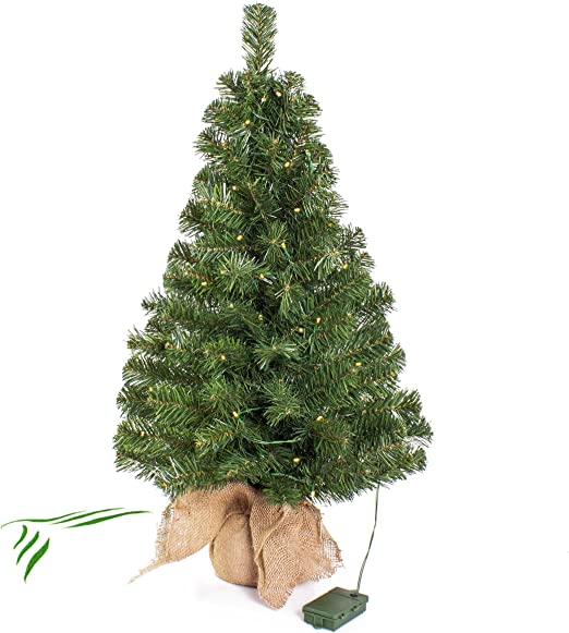 60cm//90cm Mini /árbol de Pino de Navidad Artificial decoraci/ón navide/ña con Ramas Negras y un Soporte de /árbol para la Mesa del hogar /Árbol de Navidad Artificial Pino