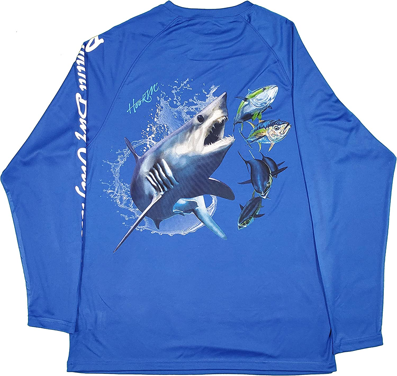 Bimini Bay Outfitters Mens HookM Performance Graphic Long Sleeve Shirt
