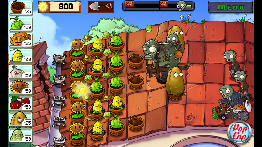 Plants vs  Zombies (WiFi Download Only)