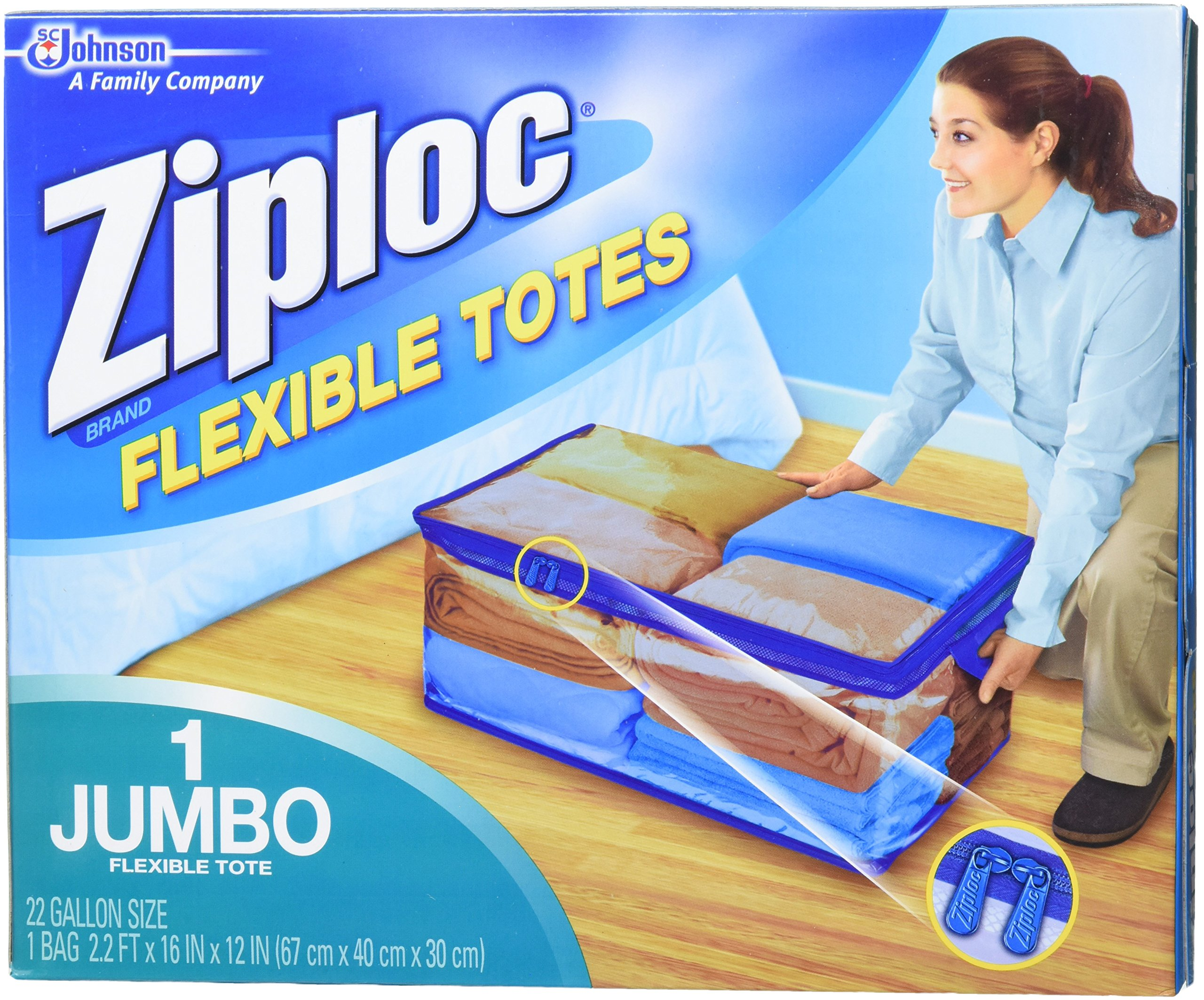 Ziploc Flexible Extra Extra Large Clothes Storage Bag (Pack of 5) by Ziploc