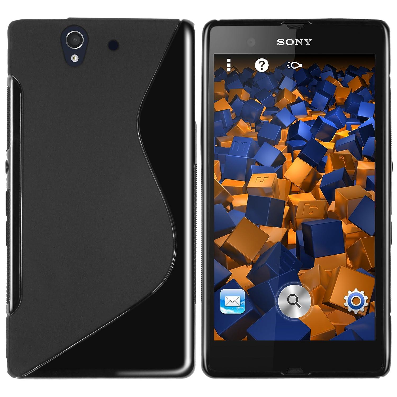 mumbi TPU Silikon Schutzhülle für Sony Xperia Z Hülle schwarz HandyNow.de Sony-Xperia- TPU-Welle-sw