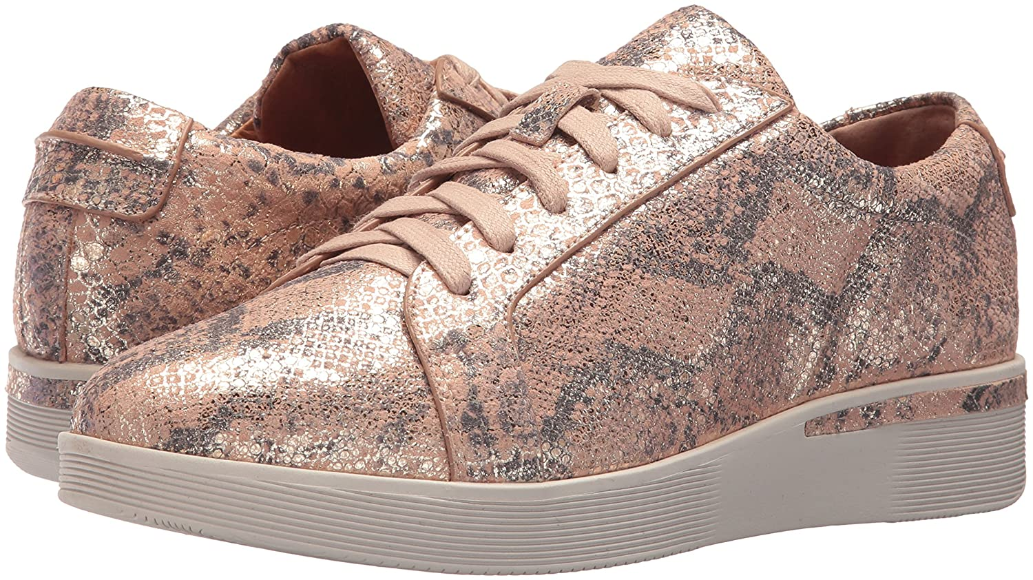 Gentle Souls by Kenneth Cole Women's Sneaker Haddie Low Profile Fashion Sneaker Women's Embossed Fashion Sneaker B077NV516T 8 M US|Rose 626eac