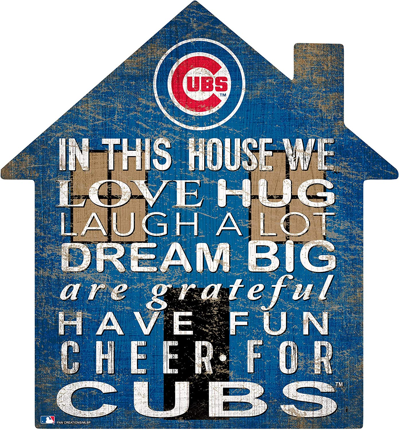 Fan Creations MLB Chicago Cubs Unisex Chicago Cubs House Sign, Team Color, 12 inch