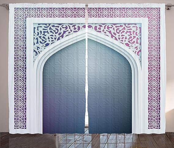 marocain Rideaux Décor par Ambesonne, vieux Mode Ottoman ...