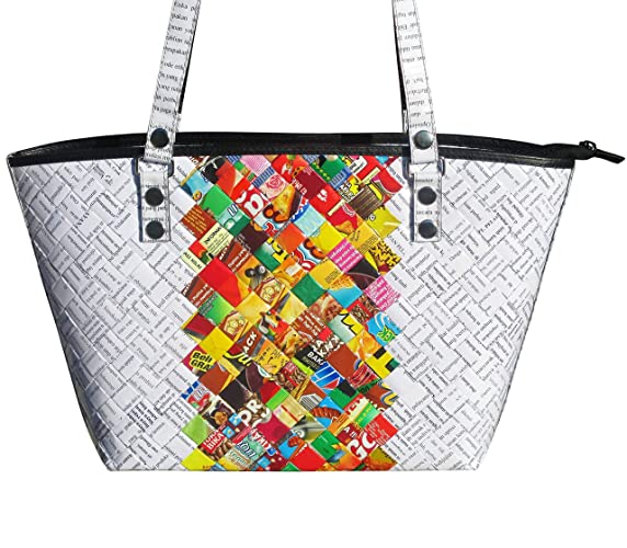 44d16cafcc Amazon.com  Tote handbag made from candy wrappers - FREE ...