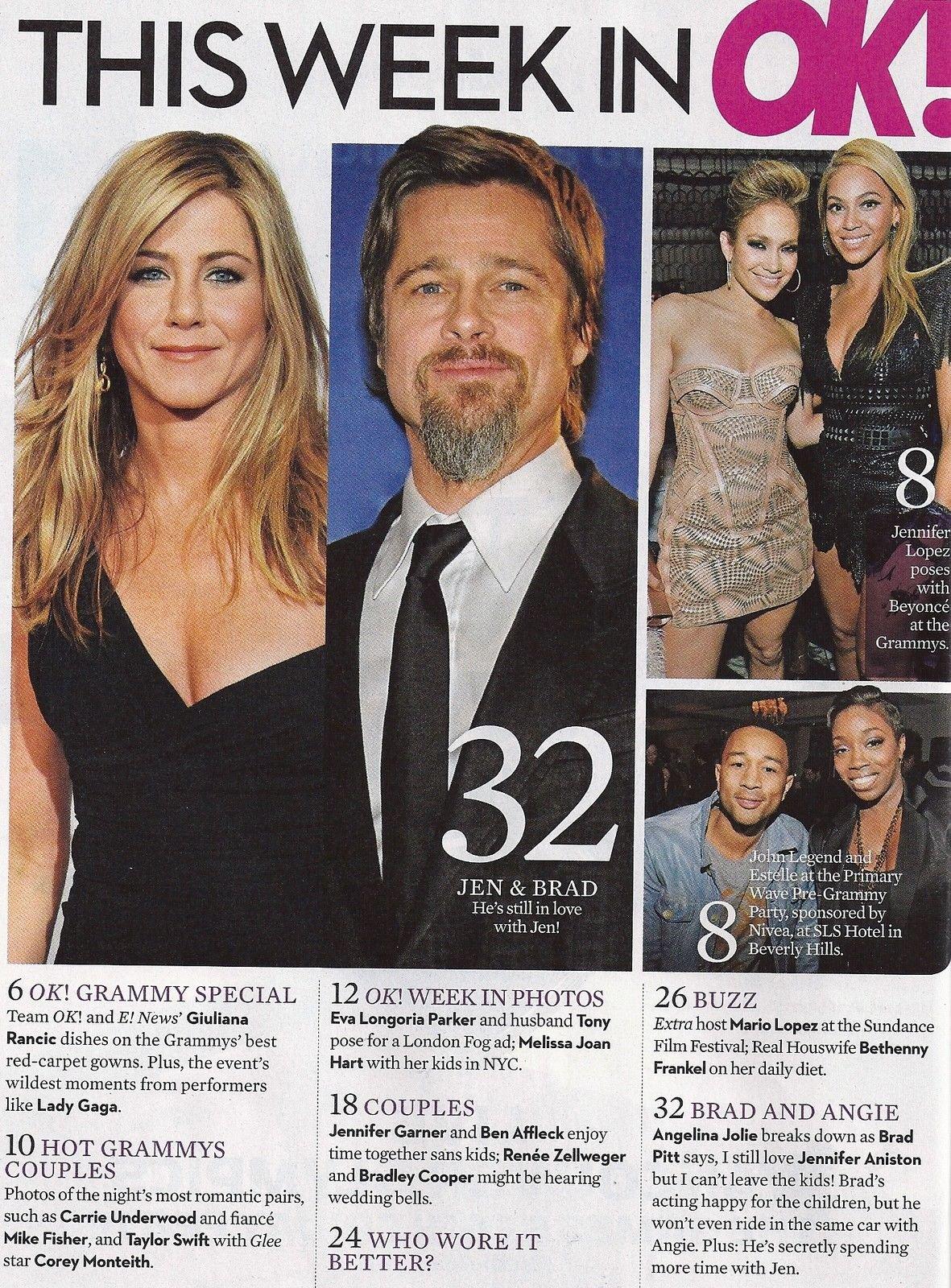 Brad Pitt/Jennifer Aniston/Angelina Jolie l Carrie Underwood