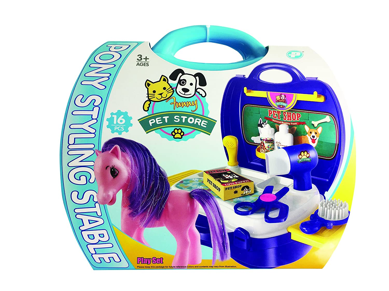 16 Piece Master Toys Pony Pet Shop Play Set Nixeus Technologies Inc us beauty 83560