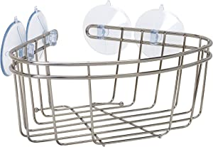 ZPC Zenith Products Corporation Zenna Home 7715BN, Corner Bath and Shower Basket, Brushed Nickel