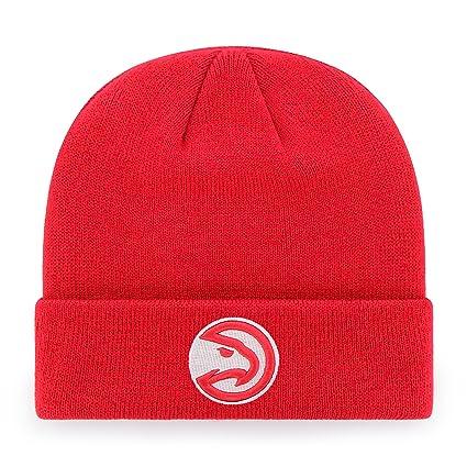 super popular 30a5e 364a0 OTS NBA Atlanta Hawks Raised Cuff Knit Cap, Red, One Size