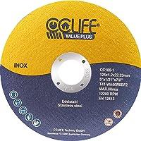 CCLIFE 50PCS Disco de corte inoxidable 125 x