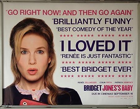Cinema Poster Bridget Jones S Baby 2016 Review Quad Ren Zellweger Amazon Co Uk Kitchen Home