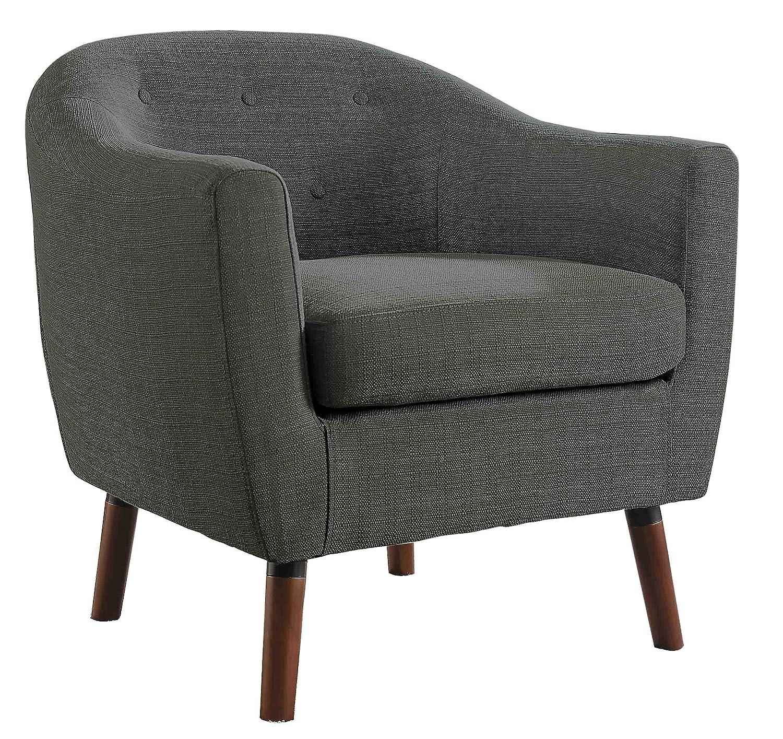 Homelegance Lucille Fabric Upholstered Pub Barrel Chair, Beige Home Elegance 1192BE