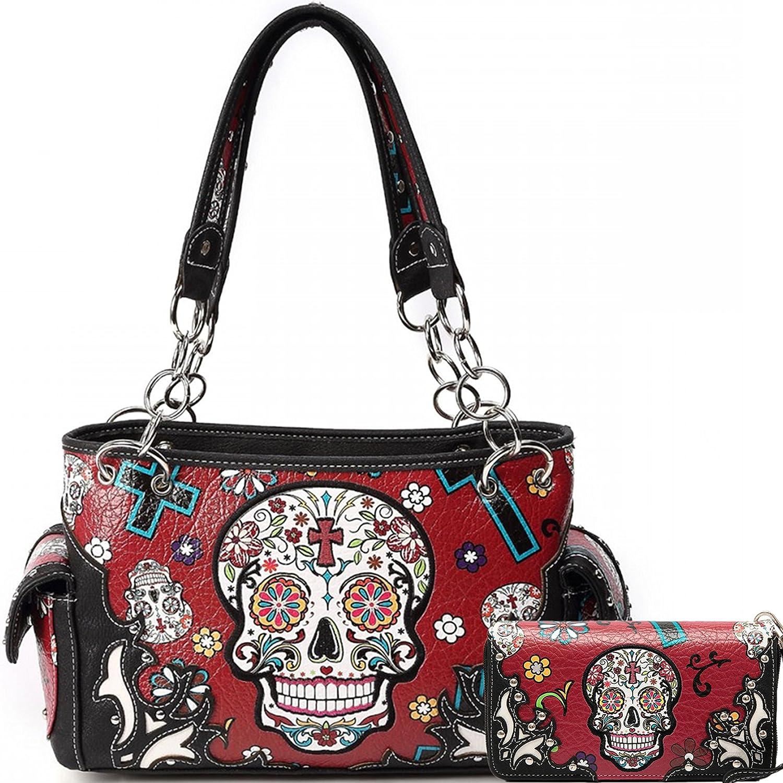 Sugar Skull Art Purse Handbag Shoulder Bag Wallet My