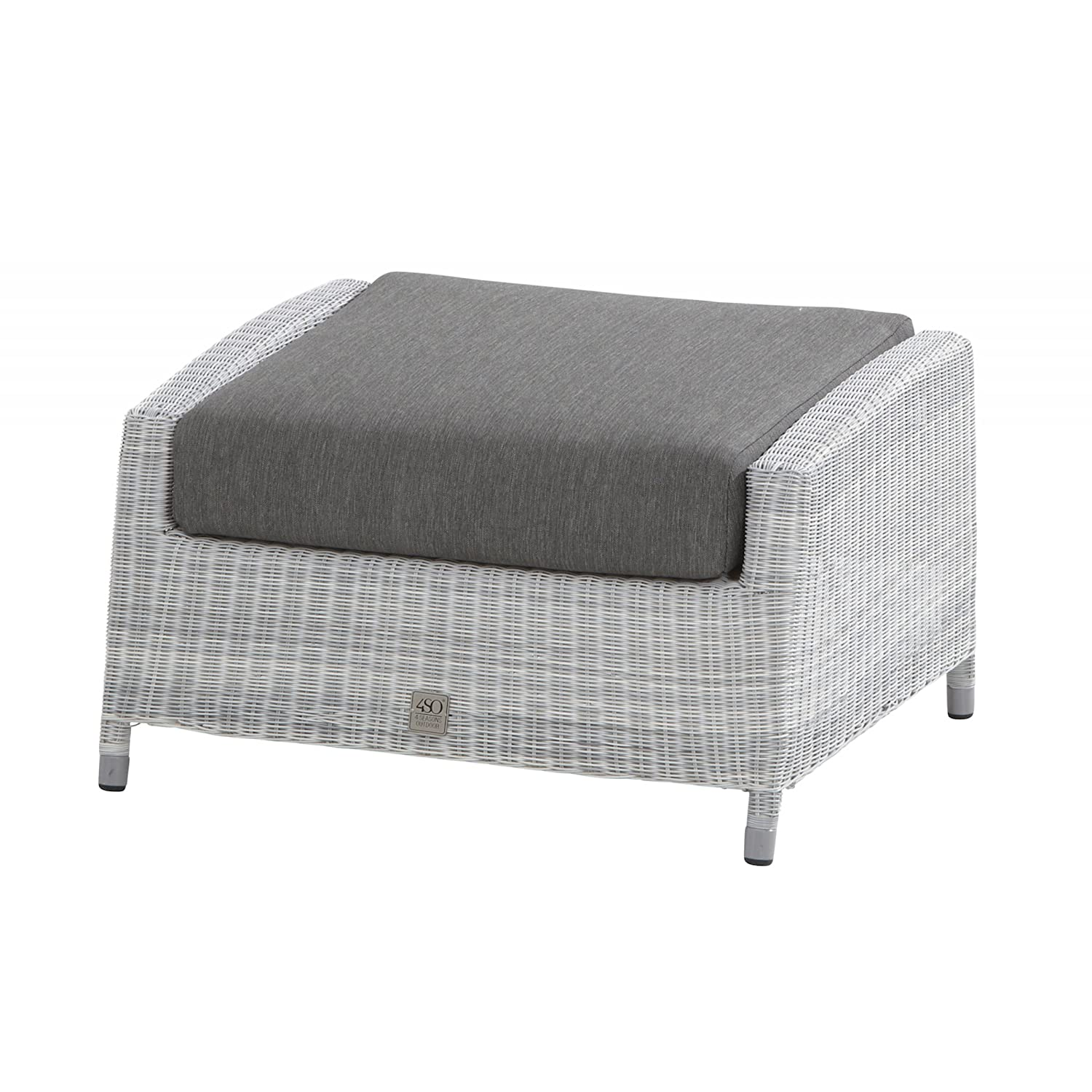 4Seasons Outdoor Castillo Fussteil Loungehocker inkl. Kissen Polyloom Ice